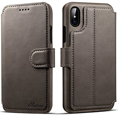 (iPhone 7 Case, iPhone 8 Leather Wallet Case [Card Slot] [Kickstand View] [Magnetic Closure] Folio Flip Slim Cover (iPhone 7/8 (4.7