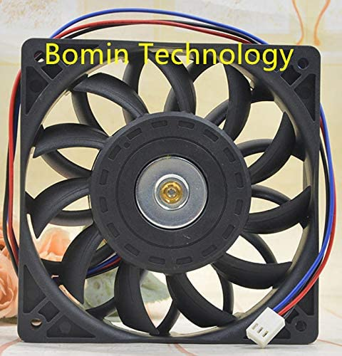 Bomin Technology for GT GT1224MB-H25BL 0.90A 24V 3-Wire 12CM Detection Alarm Fan