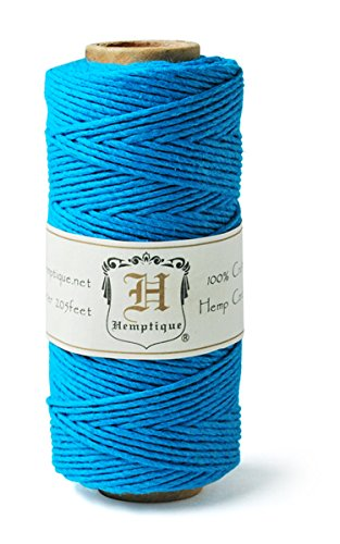 Hemptique-HS20-TURQ-Hemp-20-Pound-Cord-Spool-Turquoise-205-Feet