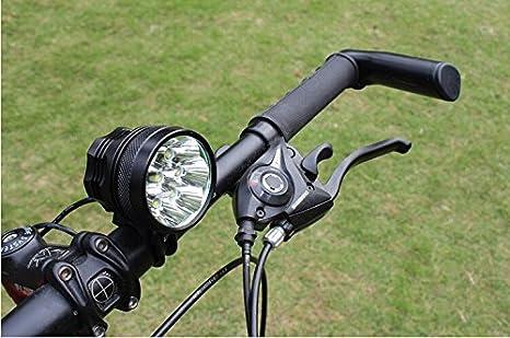 Theoutlettablet Theoutlettablet Luz delantera - Foco frontal para Bici 11,500 lúmenes Linterna LÁMPARA TORCH frontal 8x CREE XML T6 Plus LED de bicicleta ...