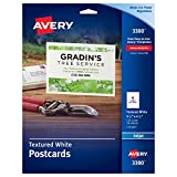 Avery Textured Postcards, 4.25 x 5.5 Inches, White, 120 Cards (3380)