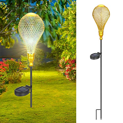 Philonext Garden Solar Outdoor Lanterns, Lights Hanging Outdoor, Adorable and Romantic Hot Balloon Solar Light, Decorative Garden Lights for Walkway,Pathway,Yard,Lawn -