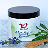 Minty Botanic Foot and Body Scrub | Essential Oils Lavender Buds Rose Petals