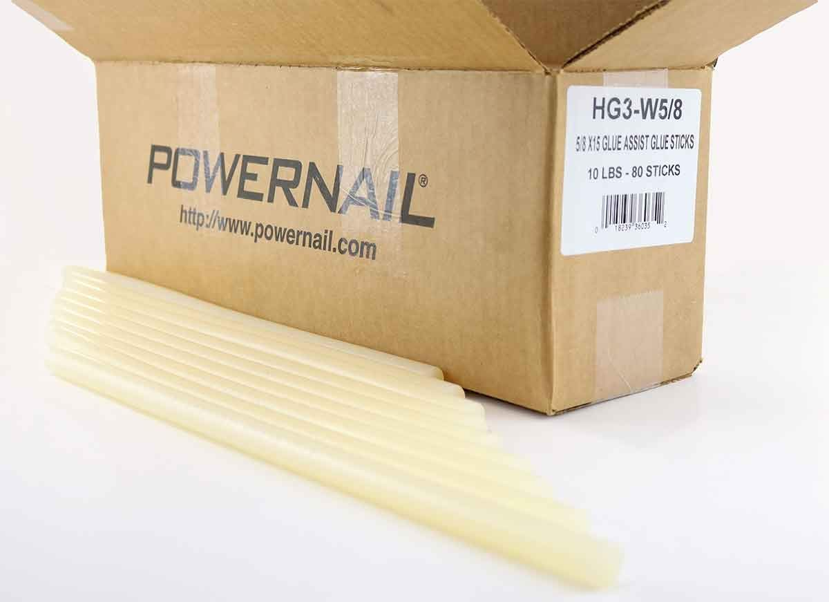 Powernail 5/8-Inch Diameter, 15-inch Long Hot Melt Glue Sticks for Wood Flooring by Powernail