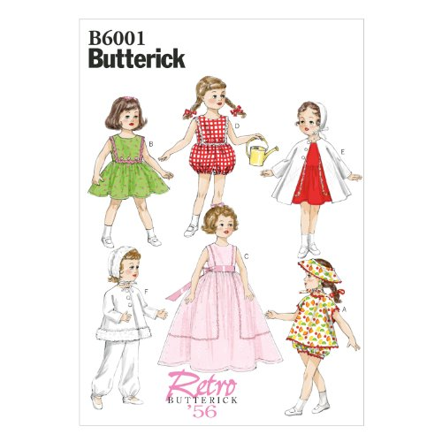 Butterick Patterns B6001OSZ Clothes Sewing Template for 18-Inch Doll Sewing Template, One Size Only (Snowsuit Doll Clothes)