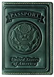 Villini 100% Leather US Passport Holder Cover Case For Men Women In 8 Colors (Green Vintage)
