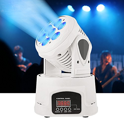 BETOPPER Moving Head Light, 7x8W RGBW Moving Heads with DMX512 Signal Out/In Port DJ Lighting DMX-512 9/14 Channels Stage Lighting for KTV Club Bar Party Disco DJ Show Bands(White) Mothers