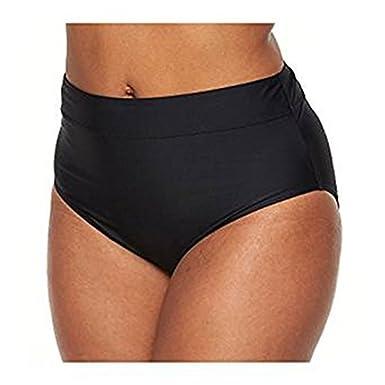 4fb520d4f385c Croft & Barrow® Plus Size Semi High-Waisted Bikini Bottoms Black 14