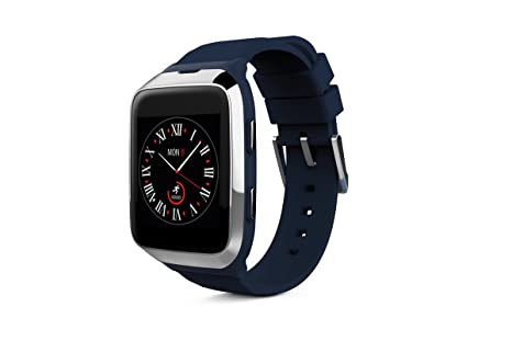 MyKronoz ZeSplash 2-Reloj de Pulsera para Smartphone y Tablet, Color Azul y Plateado