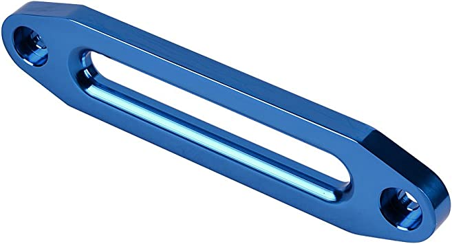 Anodized Blue 10 Bolt Pattern 8000-15000 lbs Hawse Fairlead Universal CNC Machined for Synthetic Winch Rope Cable Lead Guide