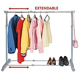 tatkraft party telescopic clothes rail. Black Bedroom Furniture Sets. Home Design Ideas