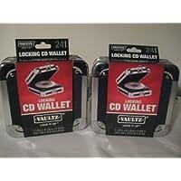Vaultz Locking CD Wallet, 24 CD Capacity, 2.5 x 6.25 x 7 Inches, Black (2 Pack)