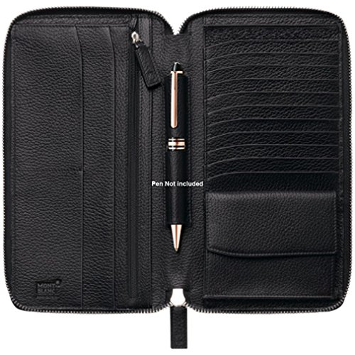Montblanc 113304 Meisterst 252 Ck Soft Grain Travel Wallet 13cc With Zipper Buy Online In Uae