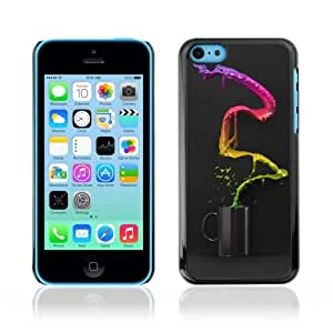 YOYOSHOP [Cool Colorful Coffee Waterfall] Apple iPhone 5C Case