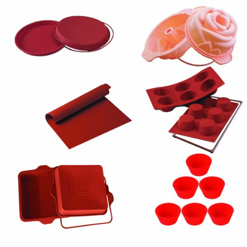 Set Bake Silicone (Silikomart 11-Piece Silicone Bakeware Set with 4 Safe Rings)