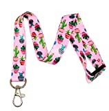 Cacti / Succulent Print Break Away Lanyard Key Chain Id Badge Holder