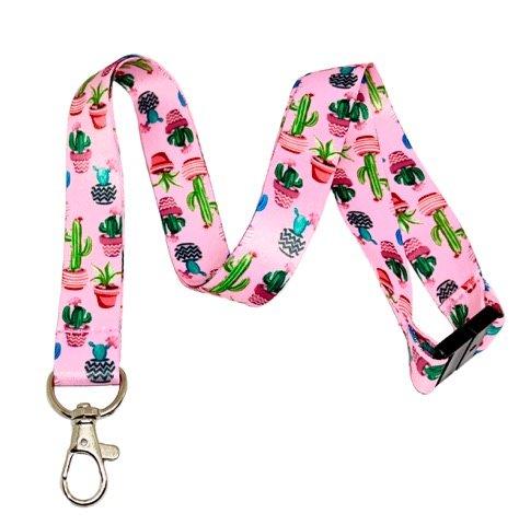 Cacti / Succulent Print Break Away Lanyard Key Chain Id Badge Holder