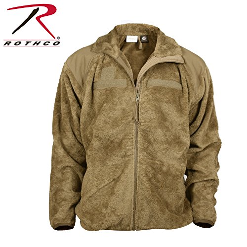 Rothco Generation III Level 3 ECWCS Fleece Jacket, Coyote Brown, L (Mens Army Fleece Jacket)