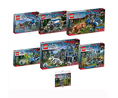 LEGO Jurassic World Entire Theme of 6 Building Sets + 1 Polybag