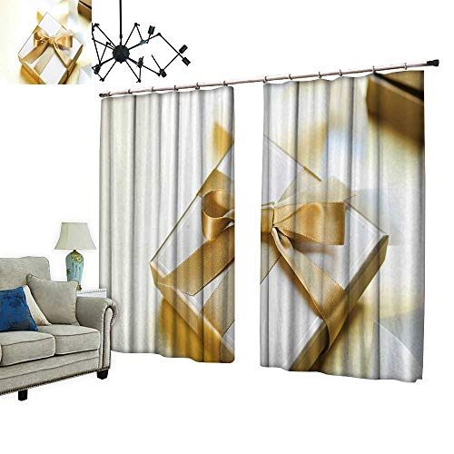 PRUNUS Window Curtain Drape with Hook Gift Box for Valentine Day Available in a Variety of Colors,W84.3 -