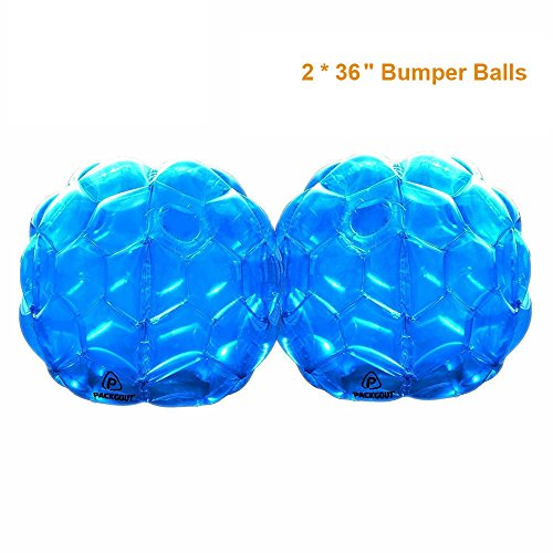 PACKGOUT Bumper Balls, Inflatable Body Bubble Ball Sumo Bumper Bopper Toys for Kids & Adults 36'' – 2 Balls Included by PACKGOUT