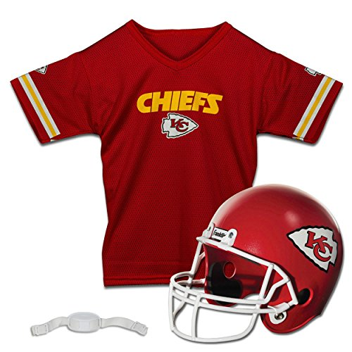 Franklin Sports NFL Kansas City Chiefs Replica Youth Helmet and Jersey Set ()