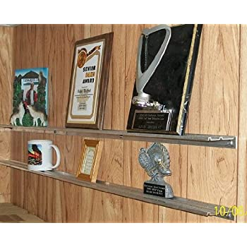Dechants Railroad Express WALL SHELF STORAGE SHELVES For Plaques Trophies Awards Pictures