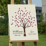 Personalized Wedding Gifts Tree Guestbook Alternative Personalized Wedding Signature Print Keepsake Guest Book Poster Sign Wedding Gifts 50th Wedding Anniversary Ideas Wedding Decorations 150 Leaves