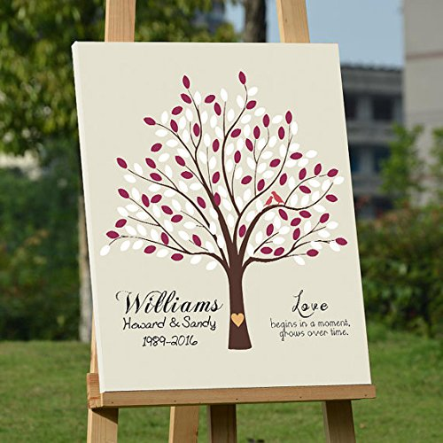 Personalized Wedding Gifts Tree Guestbook Alternative Personalized Wedding Signature Print Keepsake Guest Book Poster Sign Wedding Gifts 50th Wedding Anniversary Ideas Wedding Decorations 150 (50th Wedding Anniversary Keepsakes)