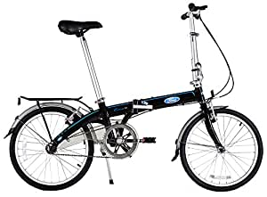 "Ford by Dahon Convertible Single Speed Folding Bicycle, 20""/38"", Black"