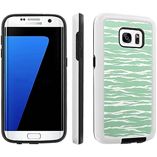 [Galaxy S7] [5.1 Screen] Armor Case [Skinguardz] [White/Black] Shock Absorbent Hybrid - [Mint Zebra] for Samsung Galaxy S7 / GS7 Sales