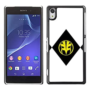 CASEMAX Slim Hard Case Cover Armor Shell FOR Sony Xperia Z2- BLACK & YELLOW MASK