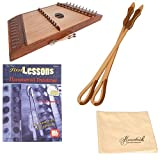 Roosebeck Double Strung 10/9 Hammered Dulcimer with Hammers Deluxe Package w/Hammers, Polishing Cloth, and Book with CD
