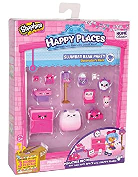 Shopkins Happy Places Decorator pack serie 1 & 2-nuevo 2017-fiesta de oso