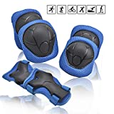 Kids/Youth Knee Pad Elbow Pads Guards Wrist Guards Protective Gear Set for Rollerblade Roller Skates Cycling BMX Bike Skateboard gs Scooter Riding Sports,Toddler for Multi-Sports Outdoor(Age3-7) Blue