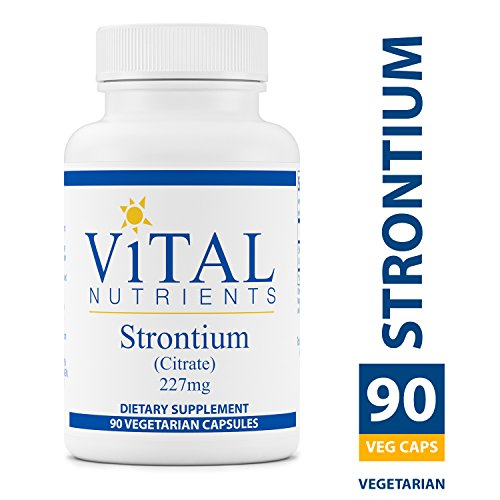 (Vital Nutrients - Strontium (Citrate) 227 mg - Supports Healthy Teeth and Bones - 90 Vegetarian Capsules per Bottle)