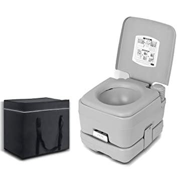 eac71f186e7 Image Unavailable. 10L Outdoor Portable Camping Toilet Caravan Travel Camp  Boating Fishing With Bag