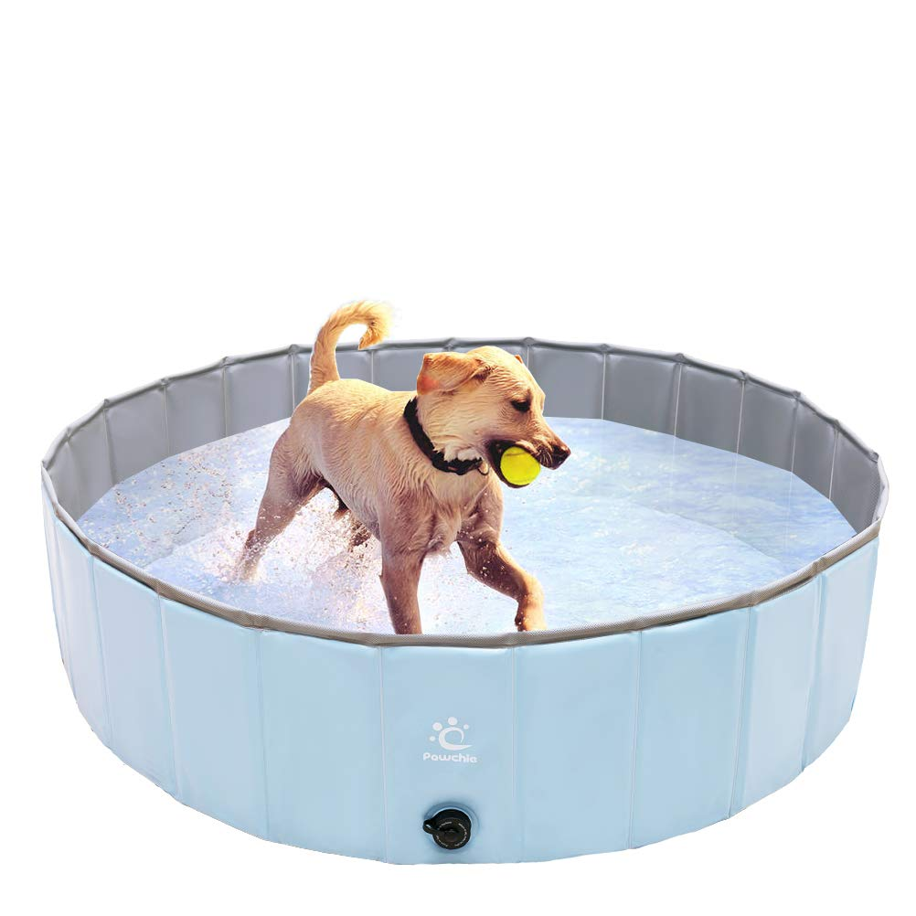 PAWCHIE Foldable Dog Swimming Pool Collapsible Pet Pool Bathing Tub Pool Bat Tub for Small to Large Dogs, Cats, Children