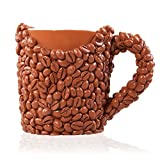 coffee bean mug - THE Coffee Beans Mug, Novelty Coffee Lovers Gift Cup for Men & Women ,Realistic Resin Coffee Beans, The Perfect Present for Valentine's or Birthday For Husband, Dad, Mom, Brother, Sister or Friend