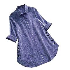 """women Blouse Size: ★ Size:S US Size:4 UK Size:8 EU Size:34 Bust:90cm/35.4"""" Shoulder:36cm/14.2"""" Sleeve:59cm/23.2"""" Length:67cm/26.4""""  ★ Size:M US Size:6 UK Size:10 EU Size:36 Bust:94cm/37.0"""" Shoulder:37cm/14.6"""" Sleeve:60cm/23.6"""" Length:68cm/26...."""