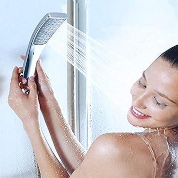 1 manopola finiture cromate Rubinetto a cascata per vasca da bagno iBath 3 fori con doccetta
