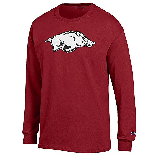 Arkansas Long Sleeve T-shirt - Elite Fan Shop Arkansas Razorbacks Long Sleeve Tshirt Icon Cardinal - L