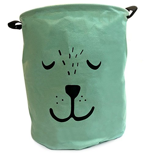 Cre8tivePick Cute Bear Laundry Hamper Basket, Kids toy storage, Cotton Fabric Collapsible Laundry Bin, Toy Storage Organizer For Home Decor, Kids Bin for Toys, Clothes, Socks, Pets Toy Storage.