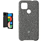 Pixel 4a with 5G - Just Black with Google Pixel 4a Case (Static Grey)