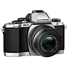 Olympus OM-D E-M10 Compact System Camera with 14-42mm 2RK Lens, Silver