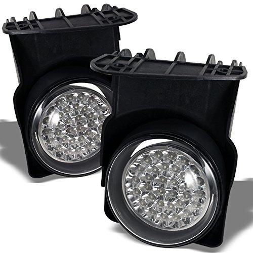 2003-2006 GMC Sierra Pickup Truck Hyper White Full LED Fog Lights Lamp w/ Switch + Wiring Harness (Sierra Pickup Led)