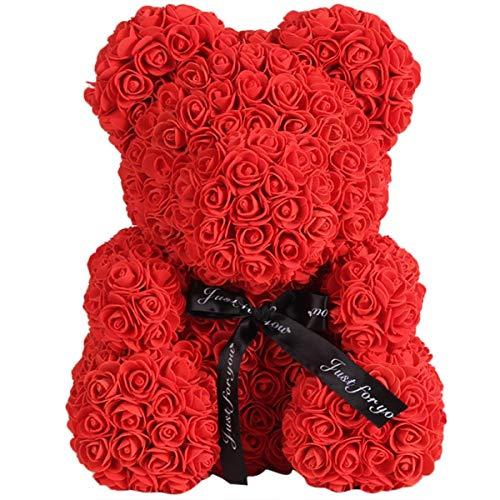 ZhangHongJ,Dekoration für Rose Bear Wedding Party(Color:ROT)