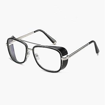 ZRTYJ Gafas de Sol Hombre Steampunk Gafas de Sol Stark Man ...