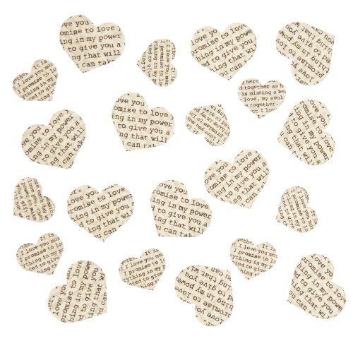 Vintage Ginger - Ginger Ray 250 Piece Vintage Confetti Love Poem Paper Hearts, Mixed