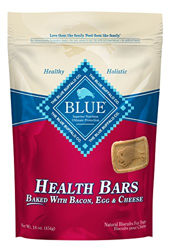 (Blue Buffalo Health Bars Crunchy Dog Treats Biscuits, Bacon, Egg & Cheese 16-oz)